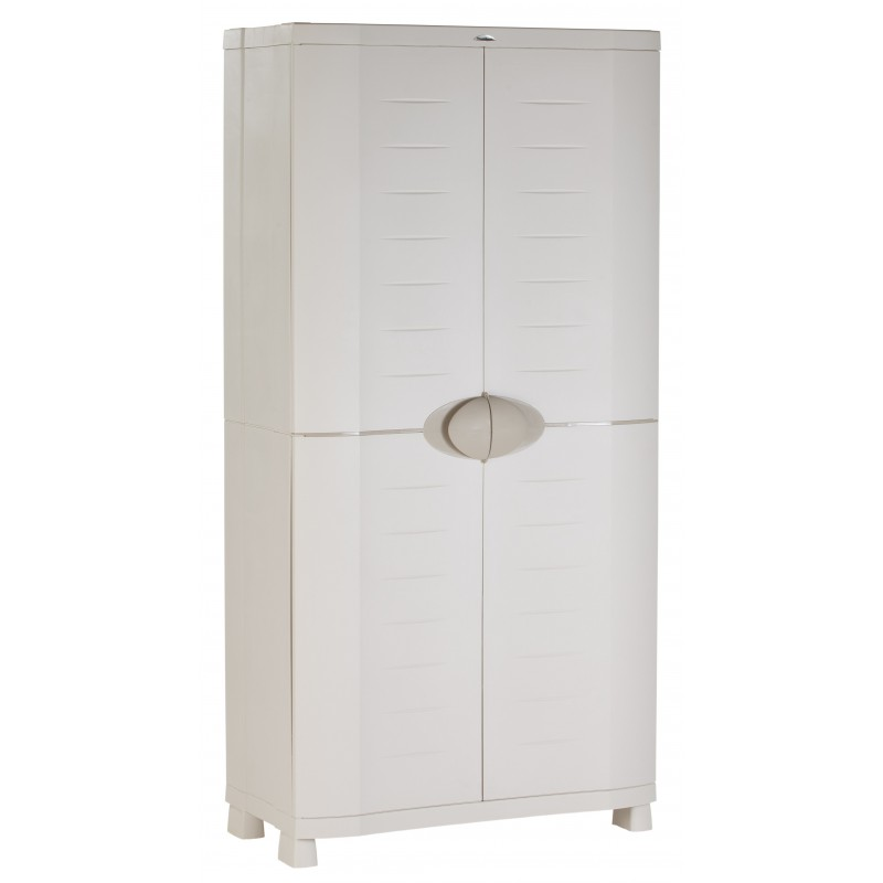armoire de rangement blanche plastiken 184x90x45. Black Bedroom Furniture Sets. Home Design Ideas