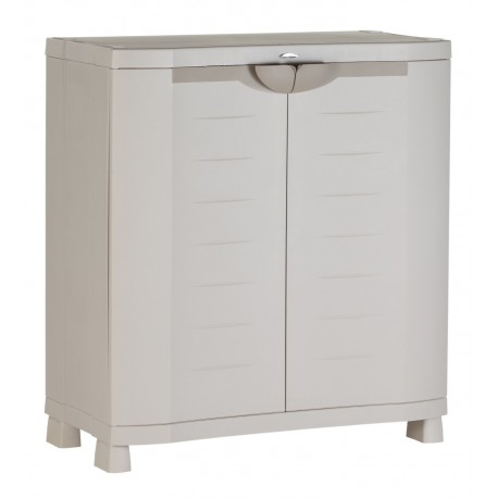 armoire de rangement blanche plastiken 100x90x45. Black Bedroom Furniture Sets. Home Design Ideas