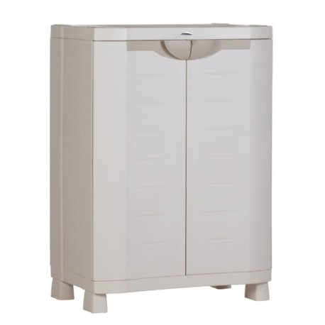 armoire de rangement blanche plastiken 100x70x45. Black Bedroom Furniture Sets. Home Design Ideas