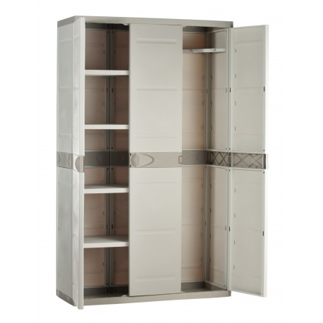 armoire de rangement plastiken 3 portes. Black Bedroom Furniture Sets. Home Design Ideas