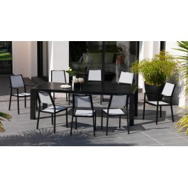 Lot de 6 Chaises Florence black