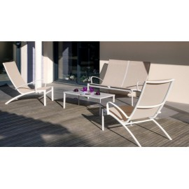 Lot de 2 fauteuils Elegance lounge (brush)