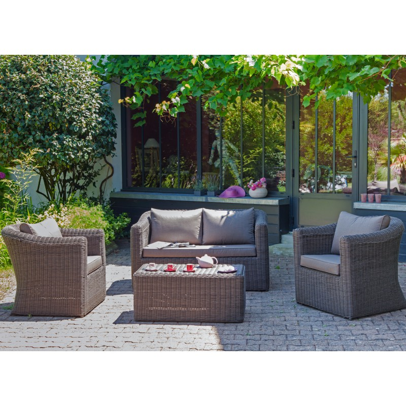Salon d tente belem set complet - Salon detente jardin ...